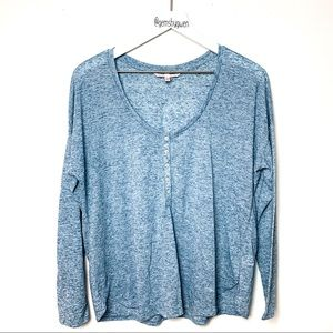 Victoria's Secret Long Sleeved Button T-Shirt | M